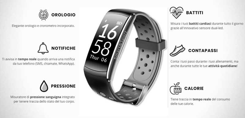 Funzioni di Smart e Sport Watch